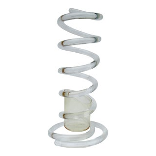"C.1950s Mid-Century Dorothy Thorpe Tubular ""Infinity,' Swirled Lucite Umbrella Stand, Holder For Sale"