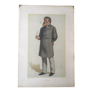Antique Caricature of James Russell Lowell