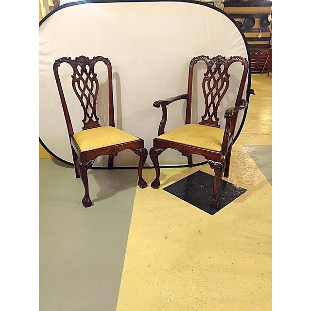 Georgian Style Dining Chairs - Set of 8 - Image 2 of 9