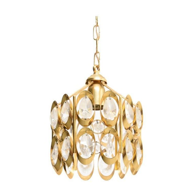 Brass Jewel Chandelier Designed by Palwa For Sale - Image 7 of 7