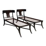 Image of Modern Mid Century Style Chaise Lounges - a Pair For Sale