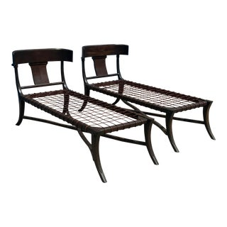 Modern Mid Century Style Chaise Lounges - a Pair For Sale