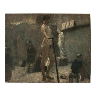 "1940s Henri Matisse, ""Study of Gustave Moreau's Studio"" Original Period Lithograph For Sale"