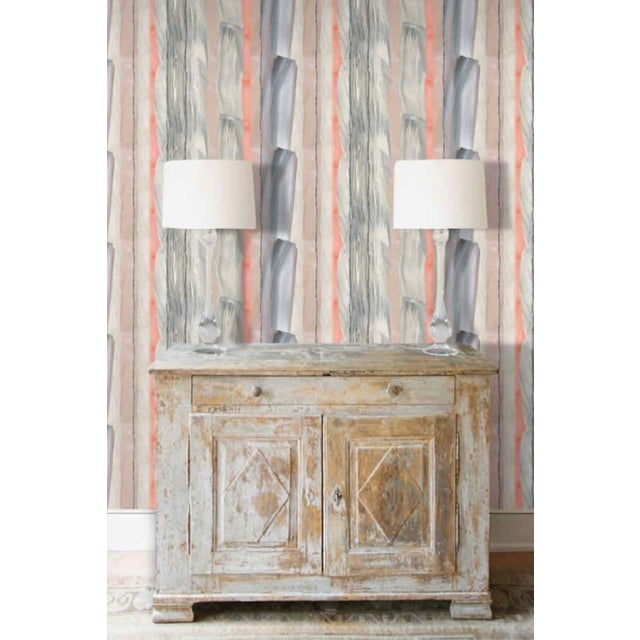 Peach Marble Stripe Wallpaper For Sale - Image 9 of 10