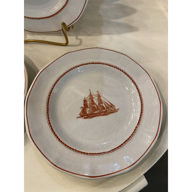 Ceramic 1980s Wedgwood Flying Cloud Rust Dessert Plates- Set of 8 For Sale - Image 7 of 8