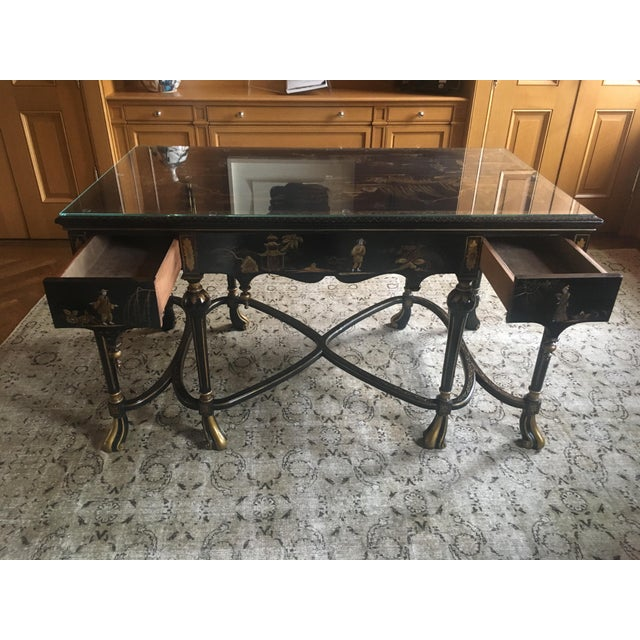 Mid 19th Century English Chinoiserie Center Hall Table For Sale - Image 5 of 10