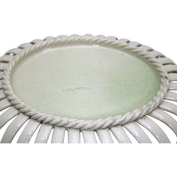 Leeds Pottery Antique Leeds Creamware Chestnut Basket For Sale - Image 4 of 6