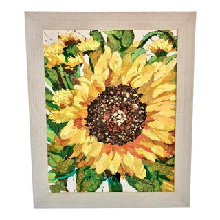 Sunflower Collage Painting For Sale