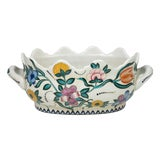 Image of Floral Scalloped Porcelain Handled Foot-bath For Sale