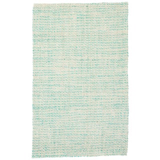Jaipur Living Almand Natural White/ Aqua Area Rug - 8′ × 10′ For Sale