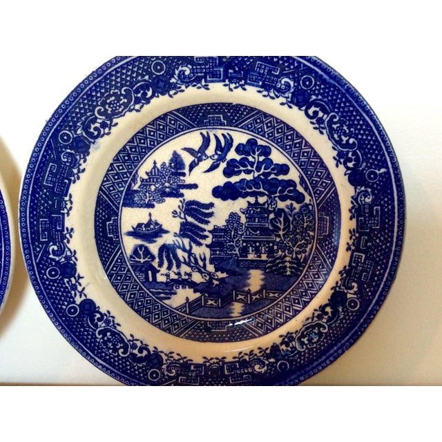 Antique Willow Adderley Plates - A Pair - Image 5 of 10