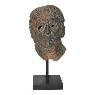 Fine 19th Century Bronze Head After Greek Antiquities For Sale