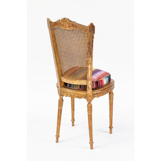 Transitional 19th C. French Giltwood Side Chair With Donghia Stripped Silk Velvet For Sale - Image 3 of 10