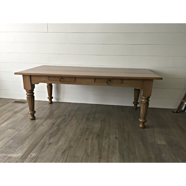 Rustic Farmhouse Dining Table - Image 2 of 10