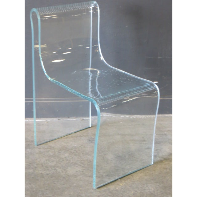 1980s Vintage Fiam Glass Ghost Chair For Sale - Image 12 of 12