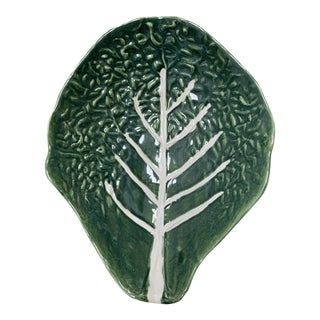 Majolica Cabbage Platter For Sale