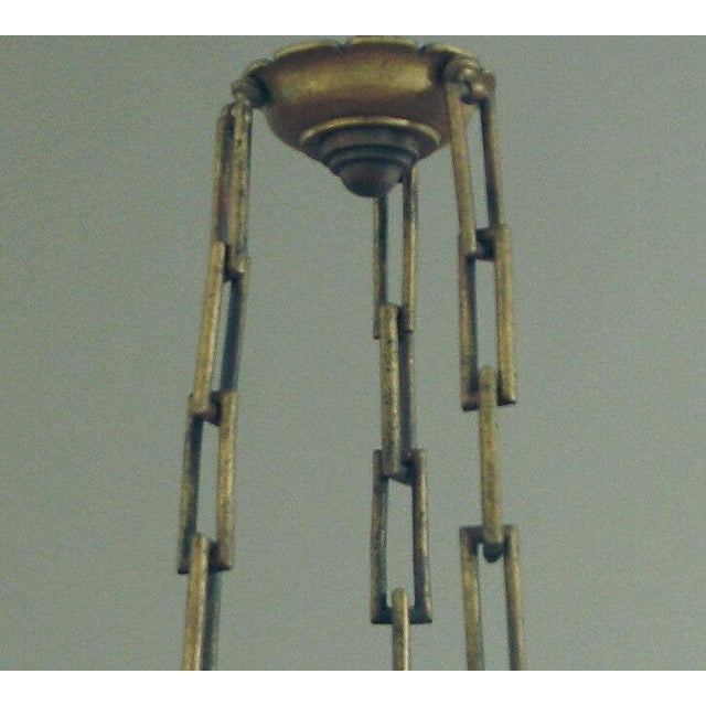 French 1910 Antique French Aladdin Hanging Lamp/Chandelier For Sale - Image 3 of 7