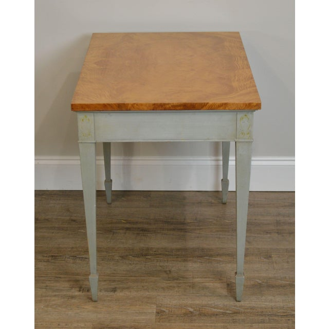 Schmieg & Kotzian Adams Hand Painted One Drawer Side Table For Sale In Philadelphia - Image 6 of 12
