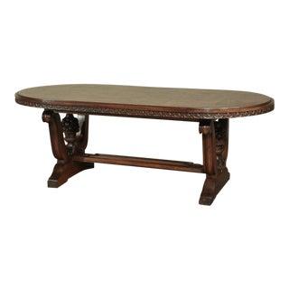 Italian Neoclassic Oval Walnut Dining Table