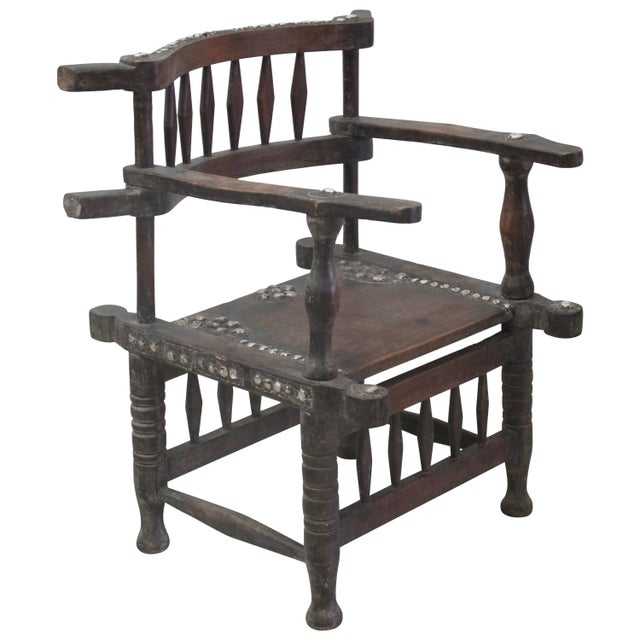 Rare 1950s Ashanti Throne Chair For Sale - Image 10 of 10