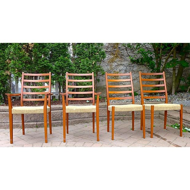 Mid Century Modern Dining Chair Set - Set of Four - Image 2 of 7