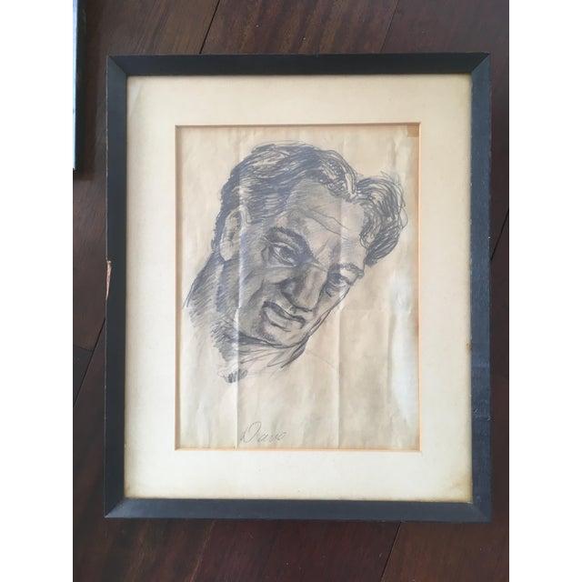 "Vintage Original ""Boxer, Portrait, Card Game"" Drawings by David Fredenthal - Set of 3 For Sale - Image 9 of 11"