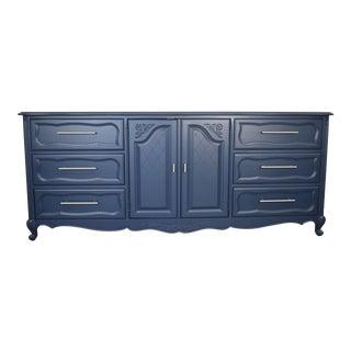 Hickory Mfg Co.Modern Blue Dresser. Louis XV Dresser For Sale