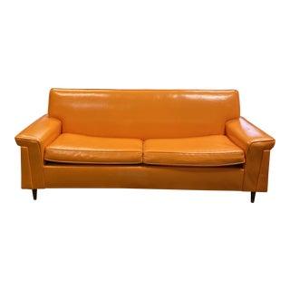 Modern Orange Standard Sofa For Sale