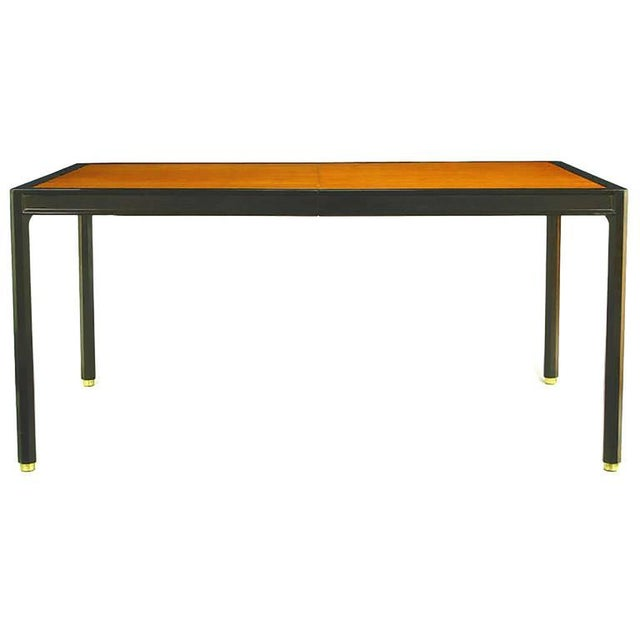 1950s Harvey Probber Walnut & Mahogany Parsons Dining Table For Sale - Image 5 of 8
