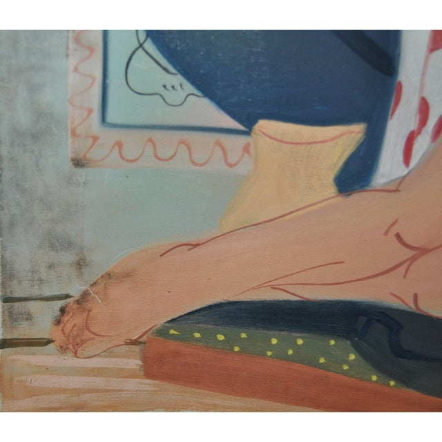 Vintage Figurative Nude Still Life Painting - Image 5 of 6