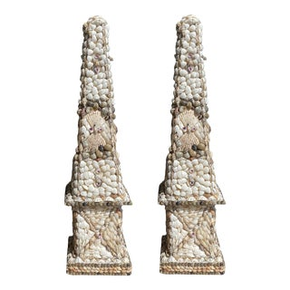 1980s Shell Obelisks - a Pair For Sale