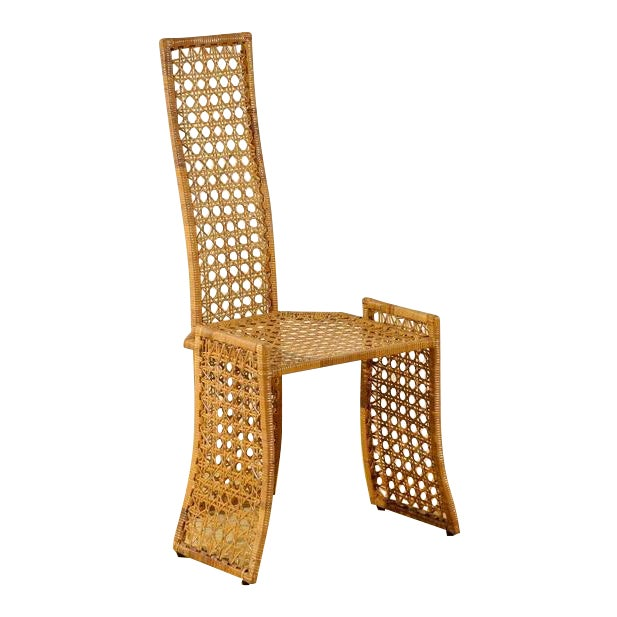 Fabulous Set of Twelve Rattan Dining Chairs by Danny Ho Fong For Sale - Image 10 of 11