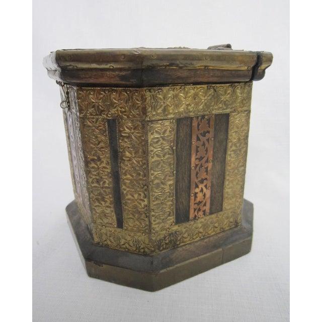 Vintage Boho Indian Wood Box - Image 5 of 7