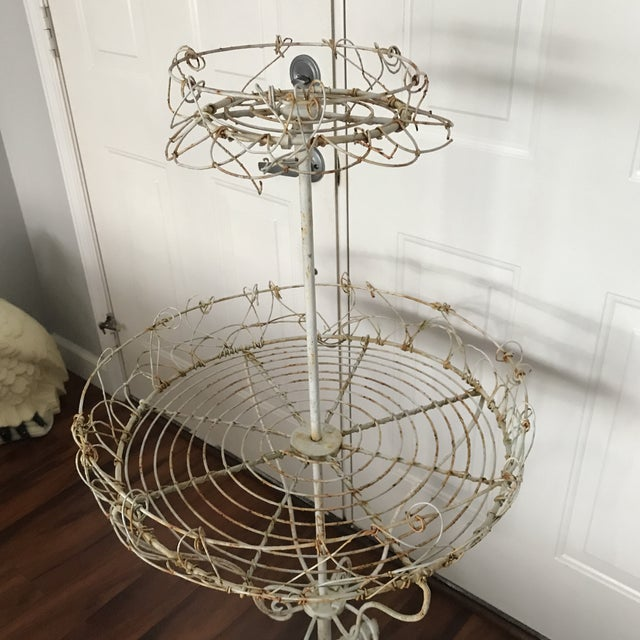Antique French Tiered Wire Stand - Image 6 of 9