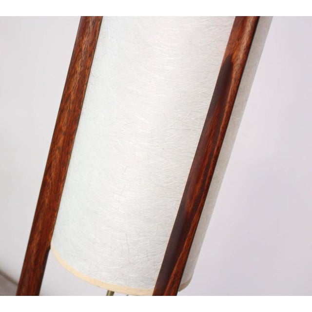 Mid-Century Modeline Stained Walnut and Brass Floor Lamp - Image 5 of 8
