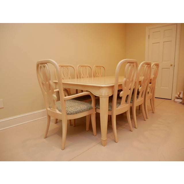 """Late 20th Century 20th Century Bernhardt """"Palm Court"""" Dining Table & 8 Chairs - 9 Pieces For Sale - Image 5 of 9"""
