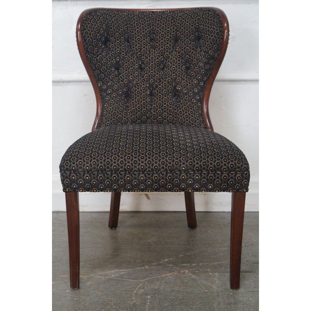 Kravet Custom Tufted Back Dining Chairs - Set of 4 | Chairish