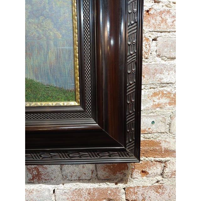 19th Century Dutch Ebonized Wood Large Mirror or Painting Frame For Sale In Los Angeles - Image 6 of 8