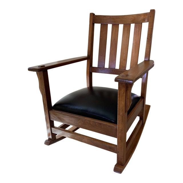 Mission Arts Crafts American Oak Rocking Chair Chairish
