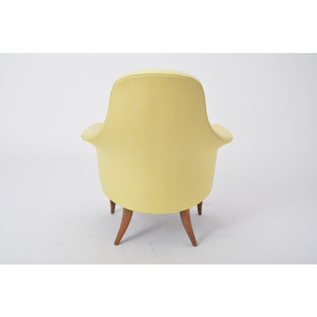 Kerstin Hörlin-Holmquist Large Adam' Reupholstered Lounge Chair With Ottoman by Kerstin Hörlin-Holmquist For Sale - Image 4 of 12