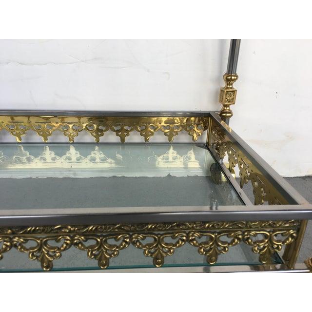 Modern and Classic Italian Brass & Glass Bar Cart - Image 6 of 8