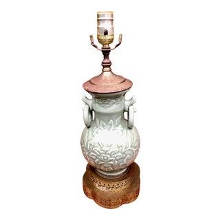 Vintage Celadon Vase Lamp