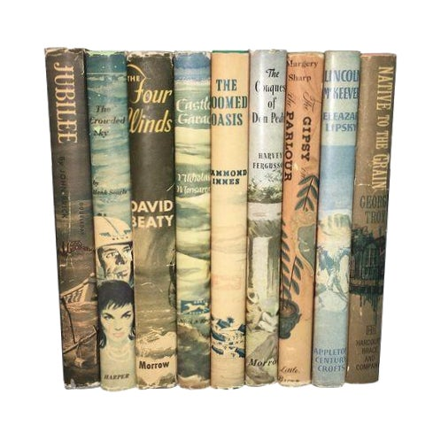 Vintage Books with Decorative Covers - Set of 9 - Image 1 of 4