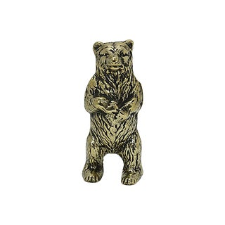 Antique Victorian Brass Bear Money Bank For Sale