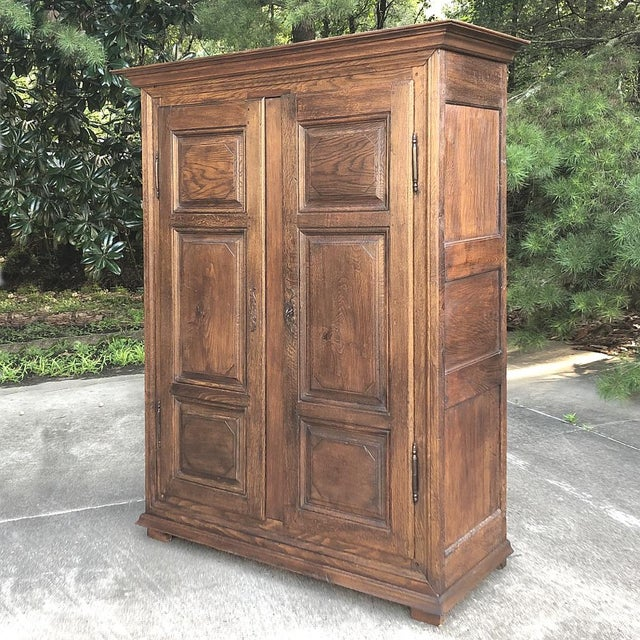 Rustic European Early 19th Century Country French Armoire For Sale - Image 3 of 13
