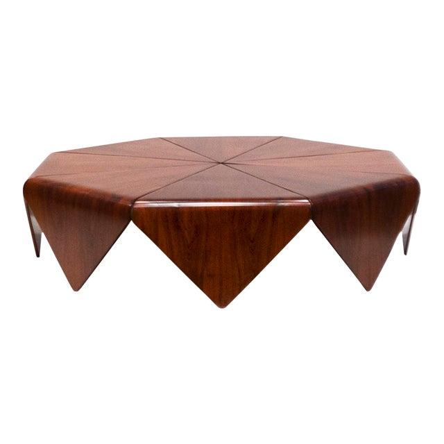 """Jorge Zalszupin, """"Petalas"""" Rosewood Coffee Table, C. 1960 - 1969 For Sale"""