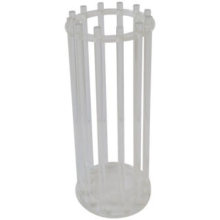 Lucite Umbrella Stand or Holder For Sale