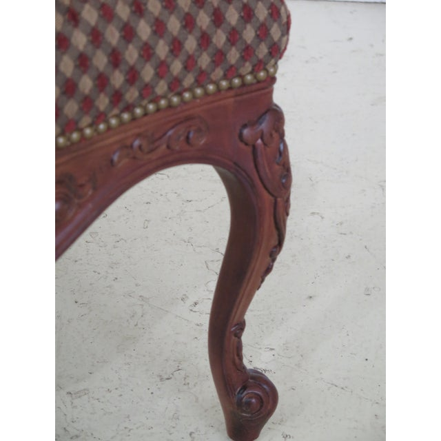 Sherrill French Louis XV Style Upholstered Arm Chair For Sale In Philadelphia - Image 6 of 13