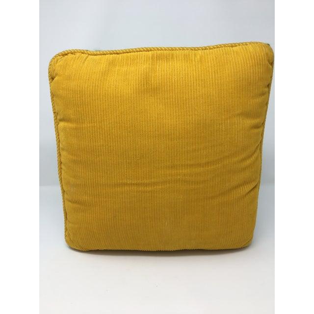Mid-Century Modern Artful, Handmade Crewel Pillow For Sale - Image 4 of 8