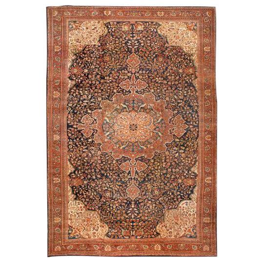 Antique Oversize 19th Century Persian Sarouk Carpet For Sale